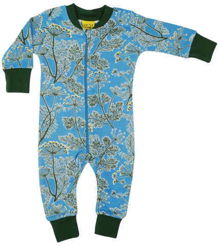 Duns Sweden - Zipsuit Dill Blue Slaappak Dille Blauw