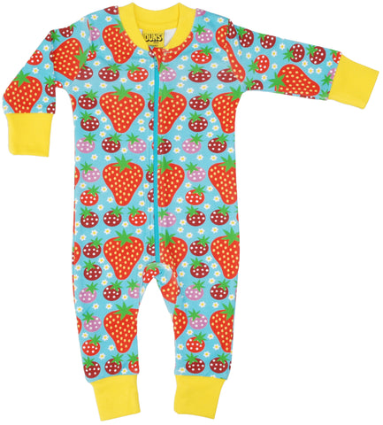 Duns Sweden - Zipsuit strawberry Fields Light Turquoise