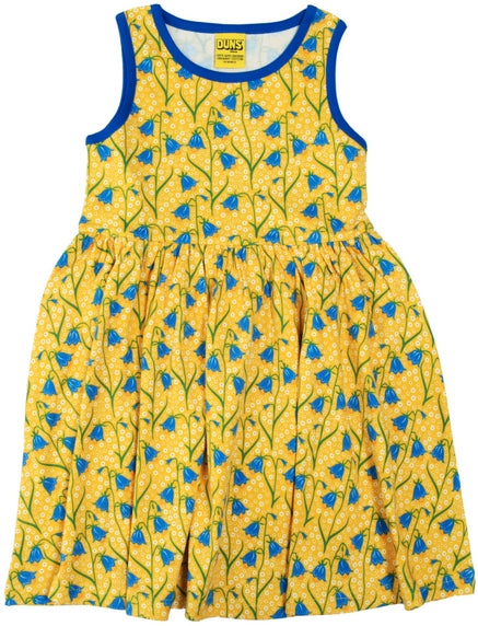 Duns Sweden - Sleeveless Dress BlueBell Yellow - Zwierjurk Klokjes Geel