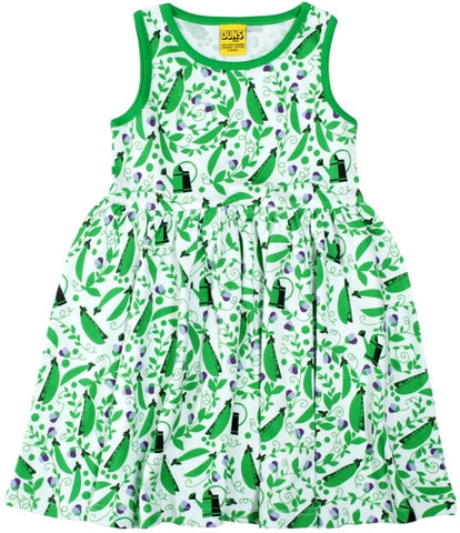 Duns Sweden - Sleeveless Dress Peas Green - Zwierjurk Peultjes/Doperwtjes