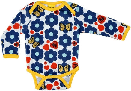 Duns Sweden Body Romper Flowers Blue