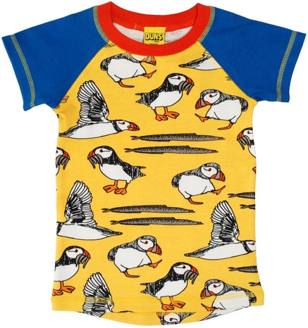 Duns Sweden - T-Shirt Raglan Puffin Yellow
