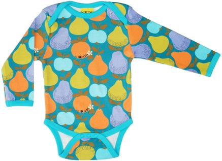 Duns Sweden - Body Longsleeve Romper Fruits Deep Teal
