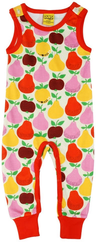 Duns Sweden - Dungaree Fruit Yellow - Playsuit Apples & Pears