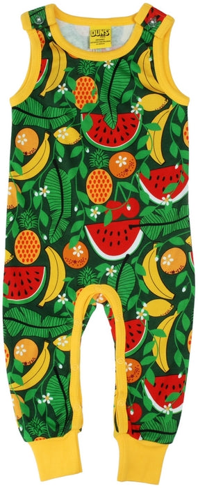 Duns Sweden - Dungaree Tropical Swamp Green - Playsuit Tropisch Fruit