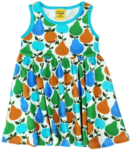 Duns Sweden - Sleeveless Dress Fruits Turquoise - Zwierjurk Appels & Peren Turquoise