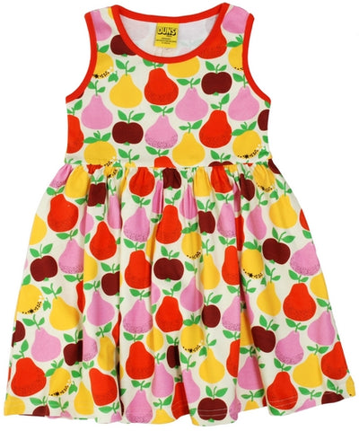 Duns Sweden - Sleeveless Dress Fruits Yellow - Zwierjurk Appels & Peren Lichtgeel