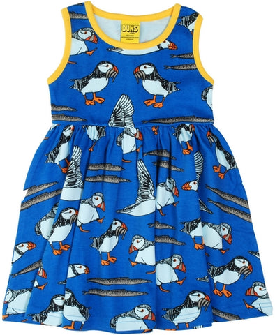 Duns Sweden - Sleeveless Dress Puffin Blue - Zwierjurk Puffins Blauw