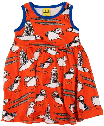 Duns Sweden - Sleeveless Dress Puffin Red - Zwierjurk Puffins Rood