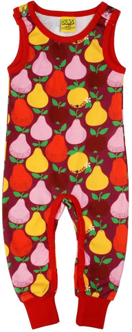 Duns Sweden - Dungaree Fruit Boysenberry - Playsuit Apples & Pears