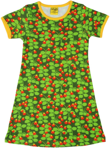 Duns Sweden - Short Sleeve Dress Strawberry