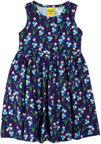 Duns Sweden - LADIES Sleeveless Dress Forget me not Purple - Zwierjurk Vergeetmenietjes Paars