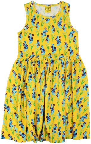Duns Sweden - LADIES Sleeveless Dress Forget me not Yellow - Zwierjurk Vergeetmenietjes Geel