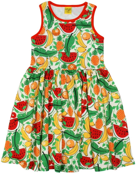 Duns Sweden - Sleeveless Dress Tropical Vanilla - Zwierjurk Tropisch Fruit Vanille
