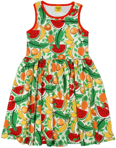 Duns Sweden - LADIES Sleeveless Dress Tropical Vanilla - Zwierjurk Tropisch Fruit Vanille