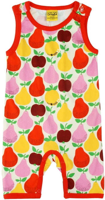 Duns Sweden - Summer Dungaree Fruits Yellow - Playsuit Appels & Peren lichtgeel