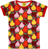 Duns Sweden - LADIES T-Shirt Fruits Boysenberry - Shirt Korte Mouw Fruit Paarsrood