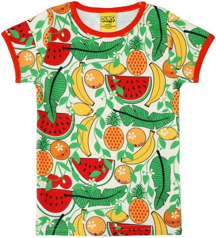 Duns Sweden - LADIES T-Shirt Tropical Vanilla - Shirt Korte Mouw Tropisch Fruit