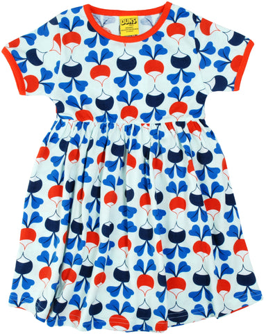 Duns Sweden - Twirl Dress/Zwierjurk Radish Blue/Red