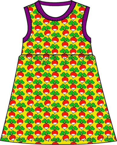Duns Sweden - Twirl Dress/Zwierjurk Radish Yellow