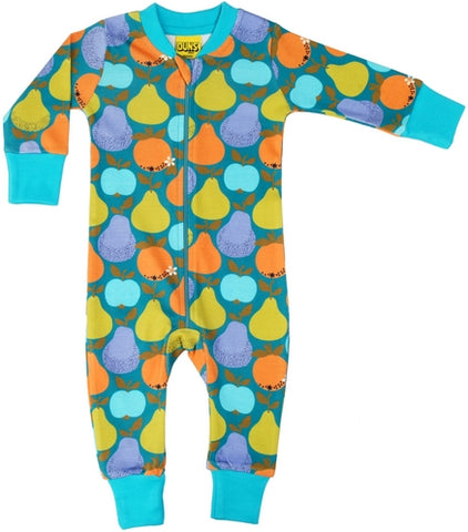 Duns Sweden - Zipsuit Fruits Dark Teal - Appels Peren