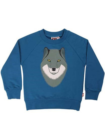 Dyr - Bellow Sweat Ulv - Trui Blauw Wolf