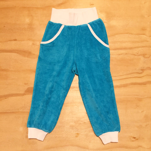 Moonkids Terry Pants Turquoise Cuffs