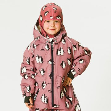 Smafolk Winter Jacket Pinguins Mesa Rose