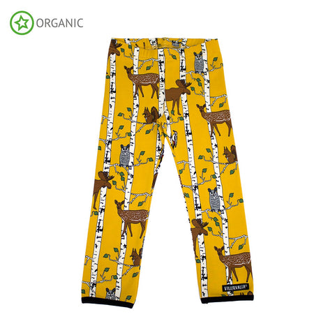 Villervalla - Leggings Birch Animals Mustard - Geel Berkenbos