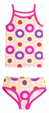 Katvig - Underwear Set Girls Big Apple Pink Purple Yellow - Ondergoed Set Hemd en Onderbroek Appels Roze Paars Geel