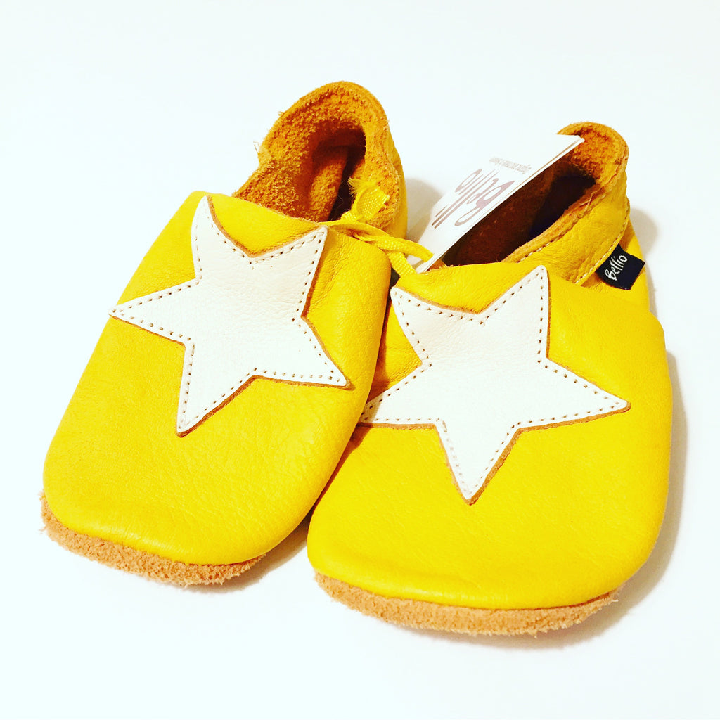 Bellio - Yellow Star Organic Tanned Leather Boots