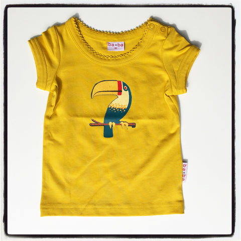 Baba Babywear - T-Shirt Girls Yellow Toekan