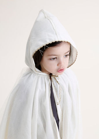 Iglo + Indi Gold Cape - Witte Cape met Goud