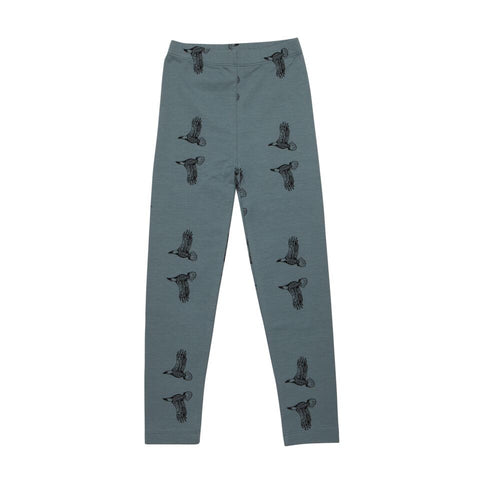 Iglo + Indi Sky Eagle Leggings - Blauwe Baggy Legging met Roofvogels
