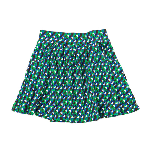 Lily-Balou Skirt Josefien Triangle Green