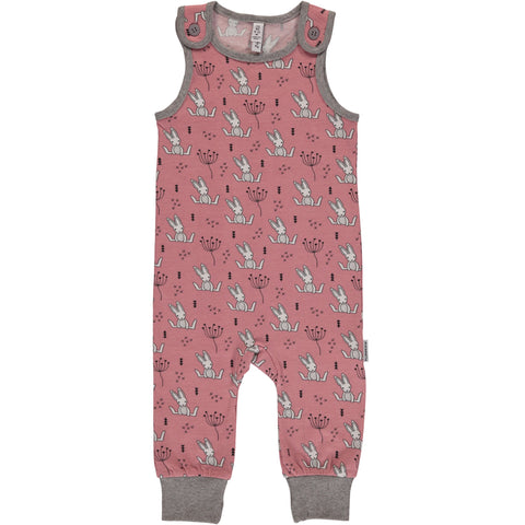 Maxomorra Playsuit Sweet Bunny - Playsuit Roze Konijntjes