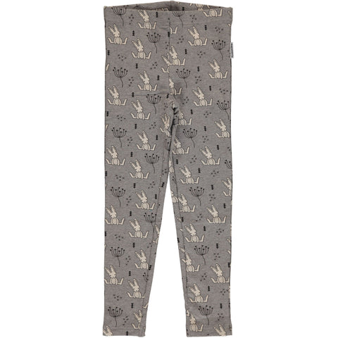 Maxomorra Leggings Sweet Bunny Grey SWEAT - Grijze Legging Konijntjes van Sweat Stof