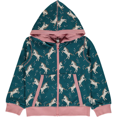 Maxomorra Cardigan Sweat Unicorn Dreams - Vest Eenhoorns