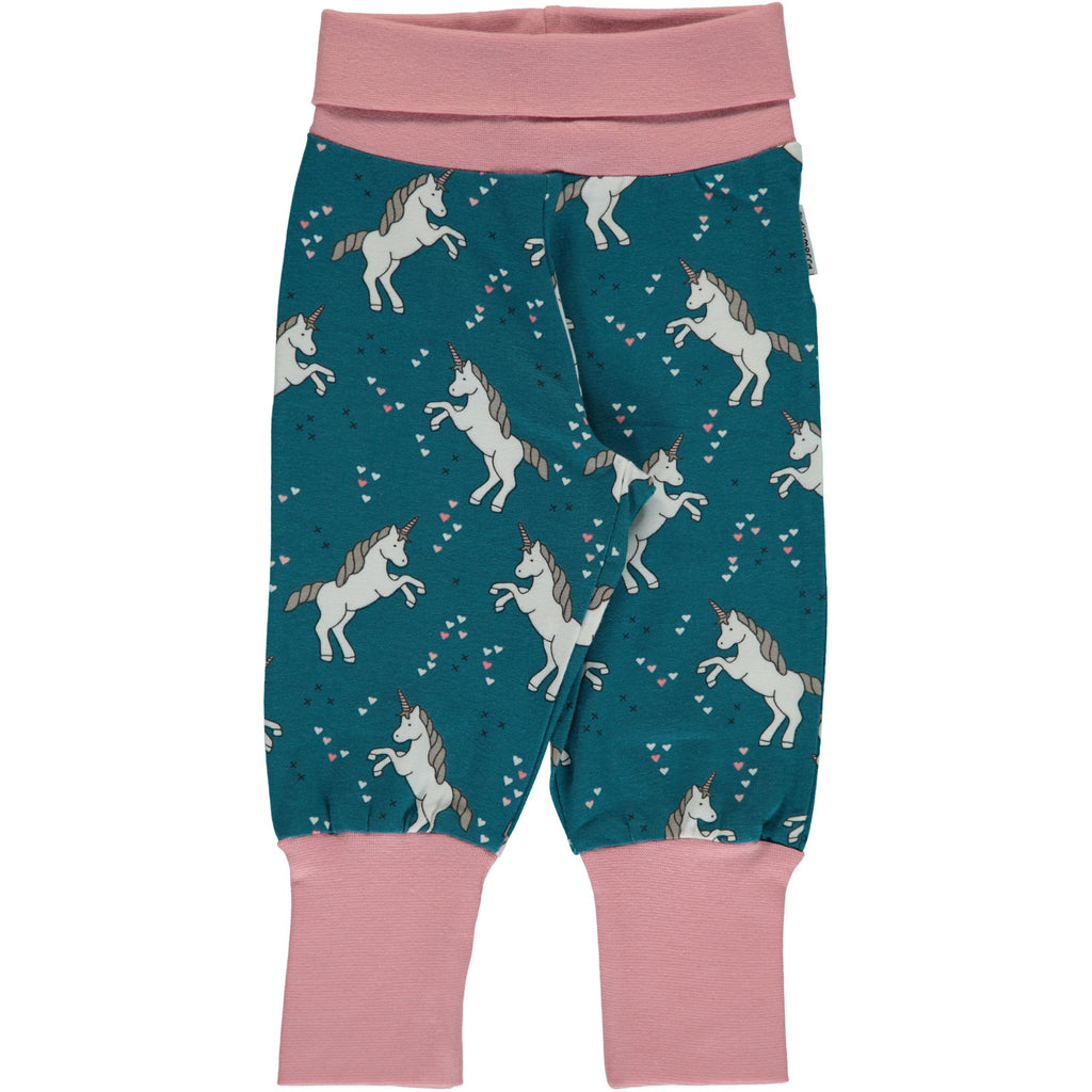 Maxomorra Pants Rib Unicorn Dreams - Baby Broekje Eenhoorns