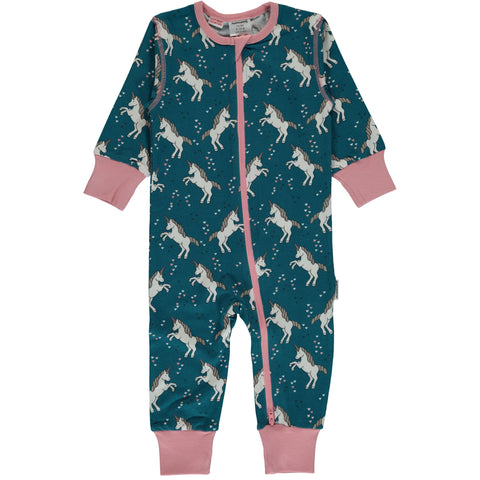 Maxomorra Jumpsuit Zipper Unicorn Dreams - Zipsuit Eenhoorns