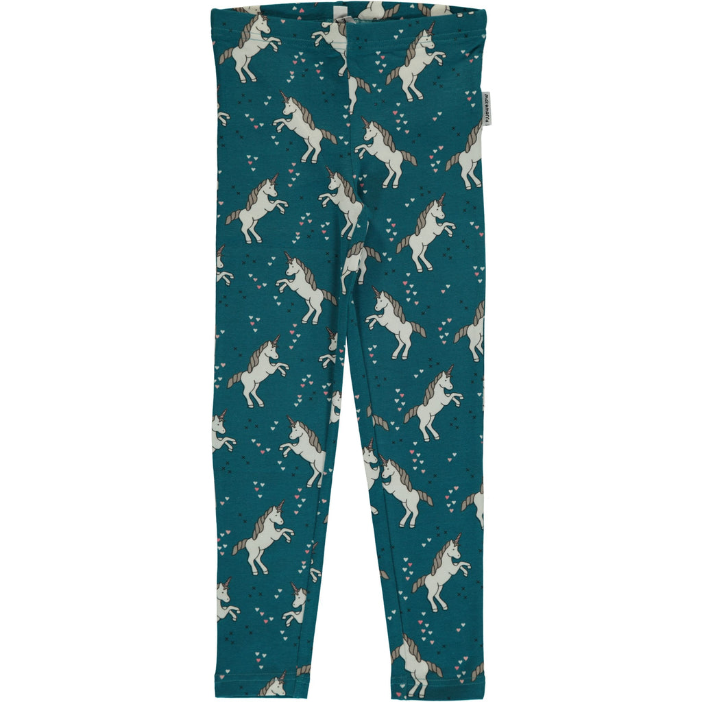 Maxomorra Leggings Unicorn Dreams - Blauwe Legging met Eenhoorns