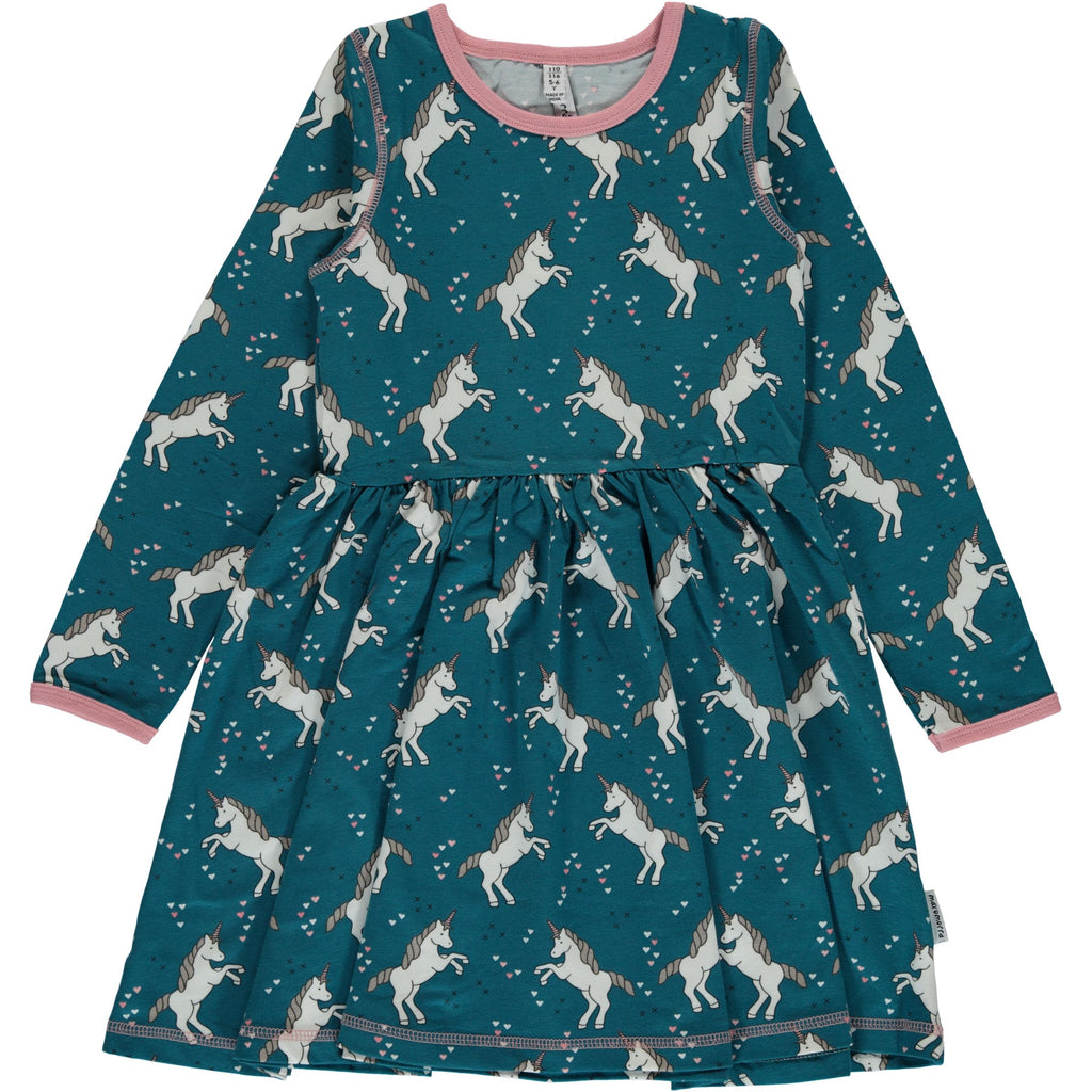 Maxomorra Dress Spin Unicorn Dreams - Zwierjurk Eenhoorns