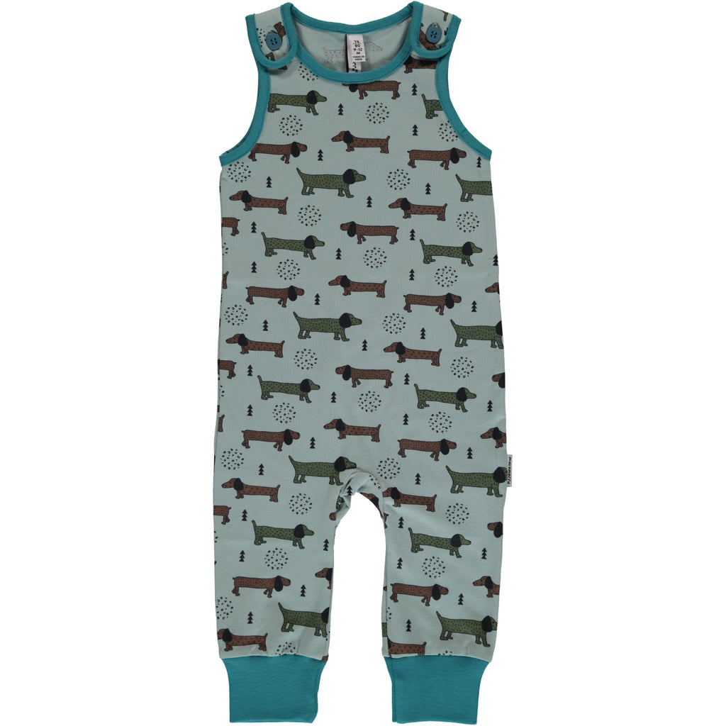 Maxomorra Playsuit Dotted Puppy - Playsuit Puppies