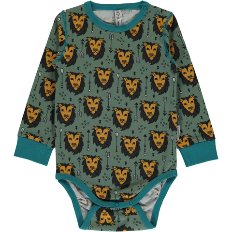 Maxomorra Body Lion Jungle - Romper Leeuwen