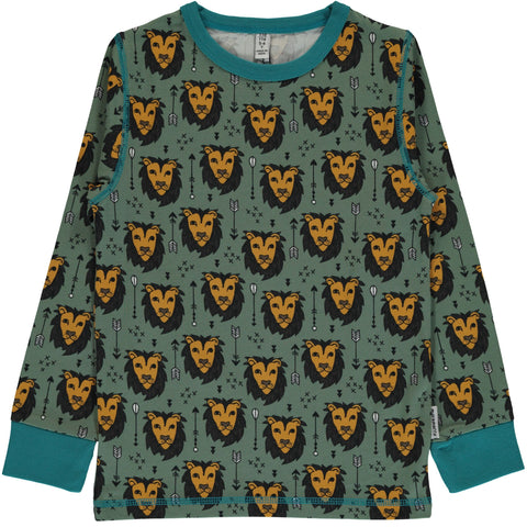 Maxomorra Longsleeve Lion Jungle - Longsleeve Leeuwen