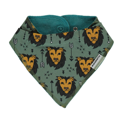 Maxomorra Bib Dribble Lion Jungle - Kwijlslabbetje Leeuwen
