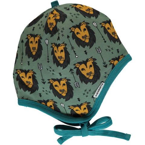 Maxomorra Hat Helmet Lion Jungle - Babycap Mutsje Leeuwen