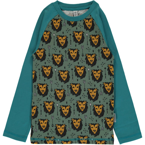 Maxomorra Longsleeve SLIM Lion Jungle - Longsleeve Leeuwen Raglan
