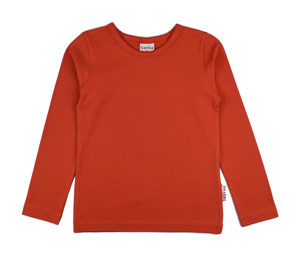 Baba Babywear - Longsleeve Girls Red steenrood (w19)
