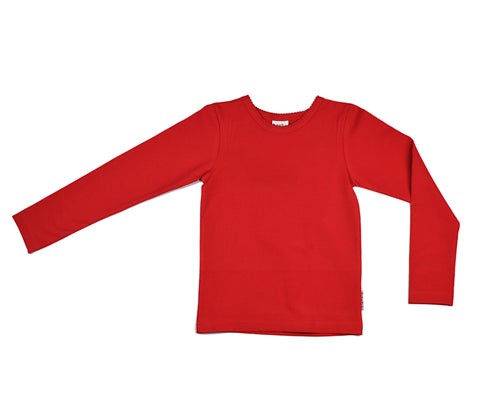 Baba Babywear Longsleeve Girls Red